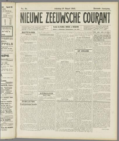 Nieuwe Zeeuwsche Courant 1911-03-28