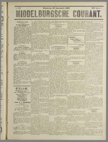Middelburgsche Courant 1925-01-27