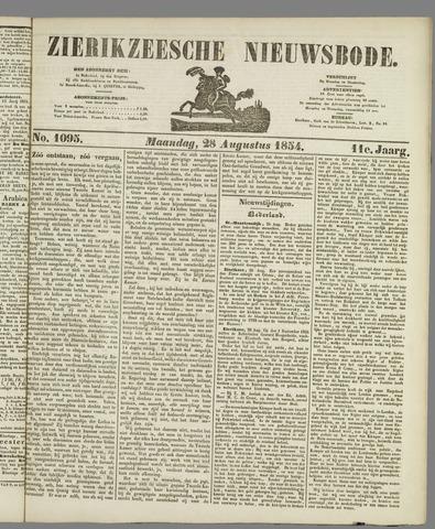 Zierikzeesche Nieuwsbode 1854-08-28