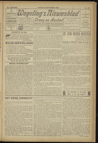 Zeeuwsch Nieuwsblad/Wegeling's Nieuwsblad 1925-09-18