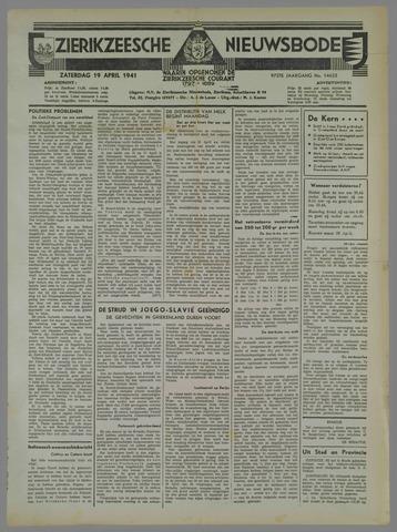 Zierikzeesche Nieuwsbode 1941-04-19