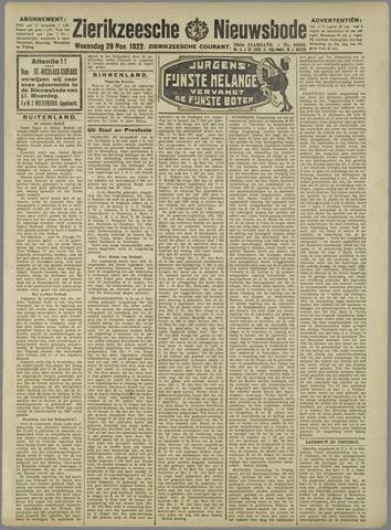 Zierikzeesche Nieuwsbode 1922-11-29
