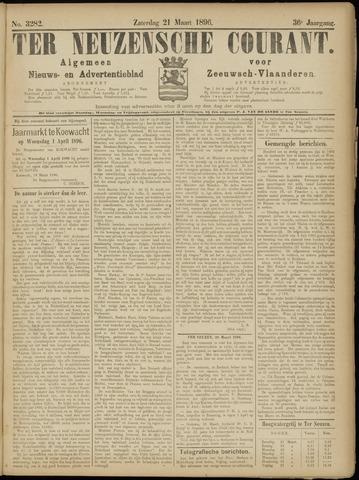 Ter Neuzensche Courant. Algemeen Nieuws- en Advertentieblad voor Zeeuwsch-Vlaanderen / Neuzensche Courant ... (idem) / (Algemeen) nieuws en advertentieblad voor Zeeuwsch-Vlaanderen 1896-03-21