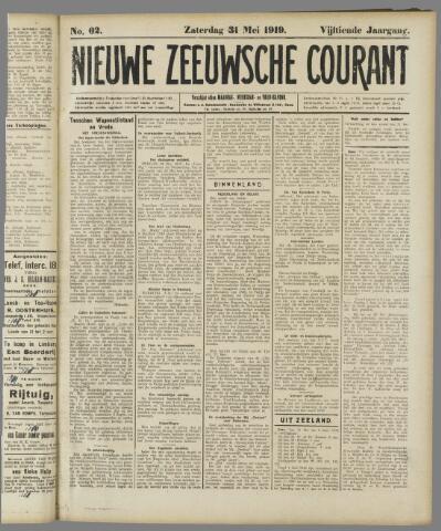 Nieuwe Zeeuwsche Courant 1919-05-31