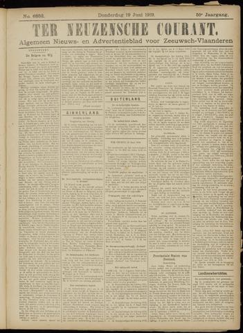 Ter Neuzensche Courant. Algemeen Nieuws- en Advertentieblad voor Zeeuwsch-Vlaanderen / Neuzensche Courant ... (idem) / (Algemeen) nieuws en advertentieblad voor Zeeuwsch-Vlaanderen 1919-06-19