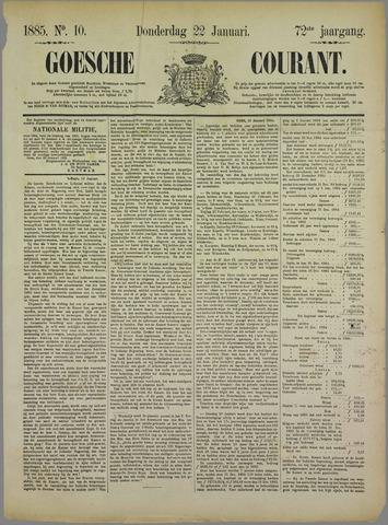 Goessche Courant 1885-01-22