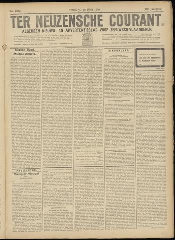 Ter Neuzensche Courant. Algemeen Nieuws- en Advertentieblad voor Zeeuwsch-Vlaanderen / Neuzensche Courant ... (idem) / (Algemeen) nieuws en advertentieblad voor Zeeuwsch-Vlaanderen 1930-06-20