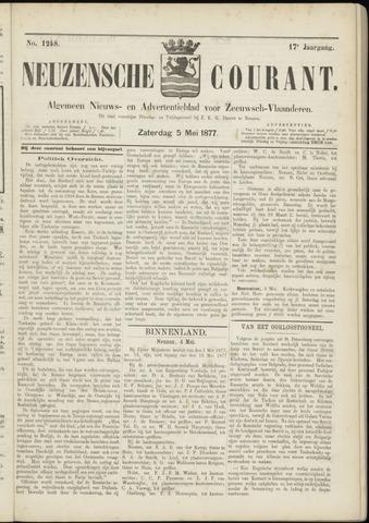 Ter Neuzensche Courant. Algemeen Nieuws- en Advertentieblad voor Zeeuwsch-Vlaanderen / Neuzensche Courant ... (idem) / (Algemeen) nieuws en advertentieblad voor Zeeuwsch-Vlaanderen 1877-05-05