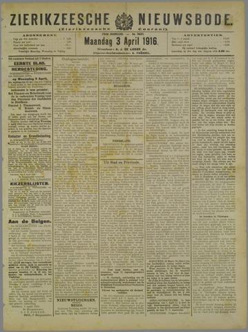 Zierikzeesche Nieuwsbode 1916-04-03