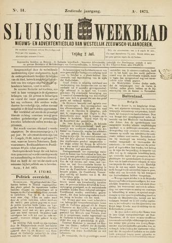 Sluisch Weekblad. Nieuws- en advertentieblad voor Westelijk Zeeuwsch-Vlaanderen 1875-07-02