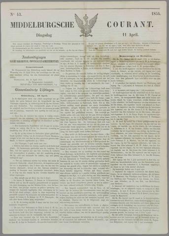 Middelburgsche Courant 1854-04-11