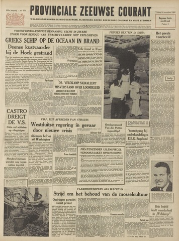 Provinciale Zeeuwse Courant 1962-11-16