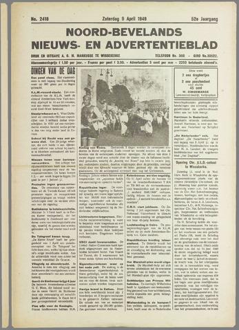 Noord-Bevelands Nieuws- en advertentieblad 1949-04-09