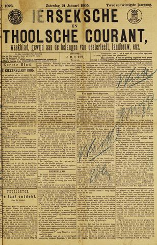 Ierseksche en Thoolsche Courant 1905-01-21