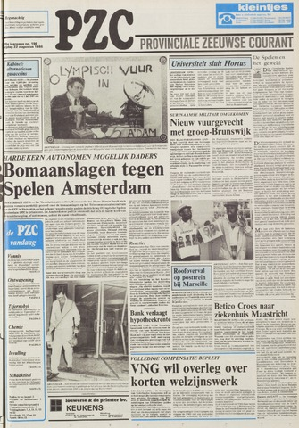 Provinciale Zeeuwse Courant 1986-08-22