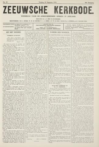 Zeeuwsche kerkbode, weekblad gewijd aan de belangen der gereformeerde kerken/ Zeeuwsch kerkblad 1934-08-10