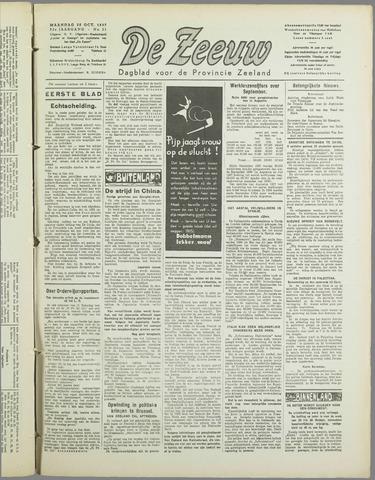 De Zeeuw. Christelijk-historisch nieuwsblad voor Zeeland 1937-10-25