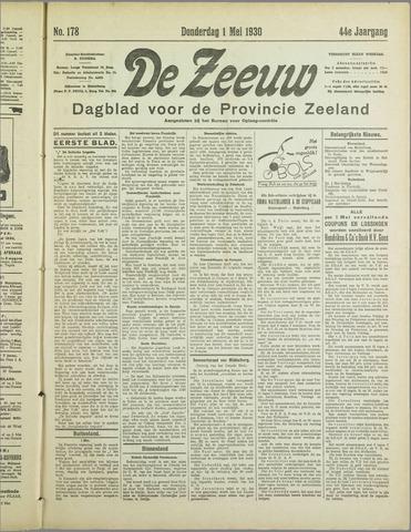 De Zeeuw. Christelijk-historisch nieuwsblad voor Zeeland 1930-05-01