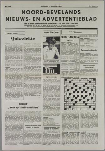 Noord-Bevelands Nieuws- en advertentieblad 1985-09-19