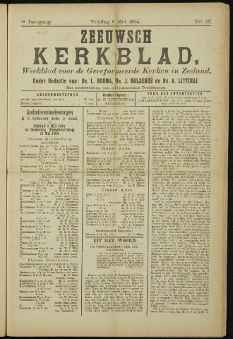 Zeeuwsche kerkbode, weekblad gewijd aan de belangen der gereformeerde kerken/ Zeeuwsch kerkblad 1904-05-06