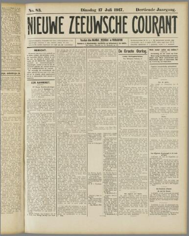Nieuwe Zeeuwsche Courant 1917-07-17