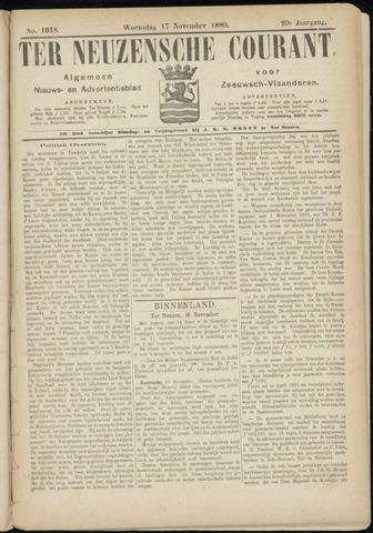 Ter Neuzensche Courant. Algemeen Nieuws- en Advertentieblad voor Zeeuwsch-Vlaanderen / Neuzensche Courant ... (idem) / (Algemeen) nieuws en advertentieblad voor Zeeuwsch-Vlaanderen 1880-11-17