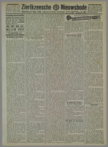 Zierikzeesche Nieuwsbode 1930-09-17