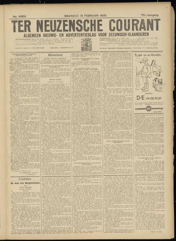 Ter Neuzensche Courant. Algemeen Nieuws- en Advertentieblad voor Zeeuwsch-Vlaanderen / Neuzensche Courant ... (idem) / (Algemeen) nieuws en advertentieblad voor Zeeuwsch-Vlaanderen 1935-02-18