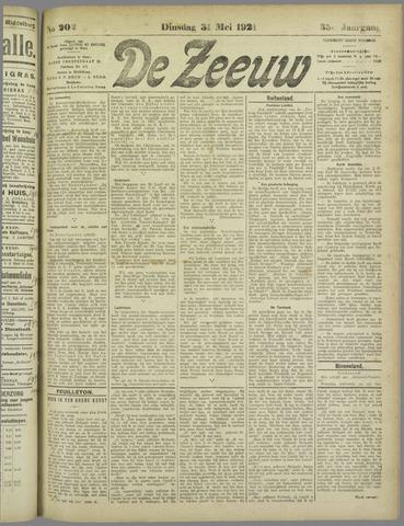 De Zeeuw. Christelijk-historisch nieuwsblad voor Zeeland 1921-05-31