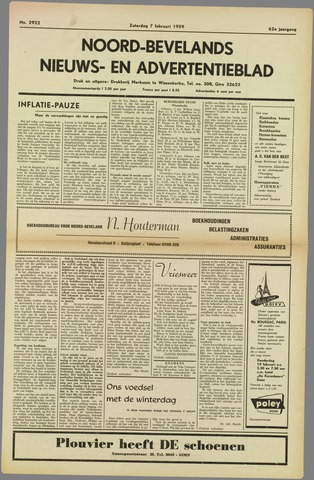 Noord-Bevelands Nieuws- en advertentieblad 1959-02-07