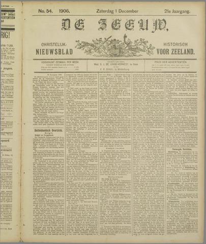 De Zeeuw. Christelijk-historisch nieuwsblad voor Zeeland 1906-12-01