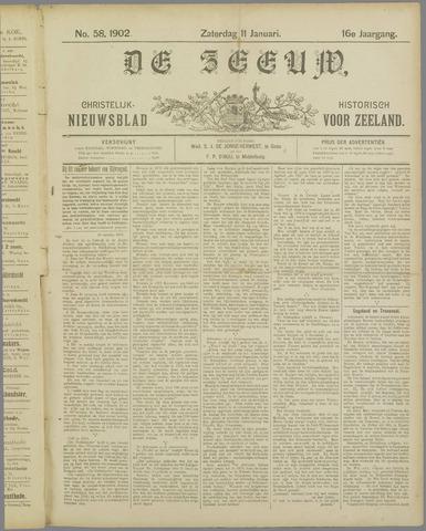 De Zeeuw. Christelijk-historisch nieuwsblad voor Zeeland 1902-01-11
