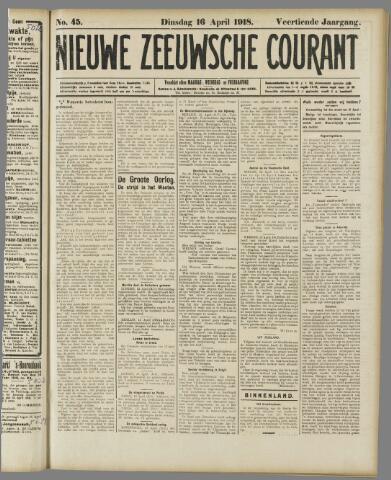 Nieuwe Zeeuwsche Courant 1918-04-16