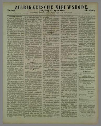 Zierikzeesche Nieuwsbode 1888-04-24