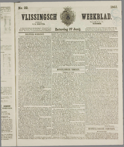 Vlissings Weekblad 1863-06-27