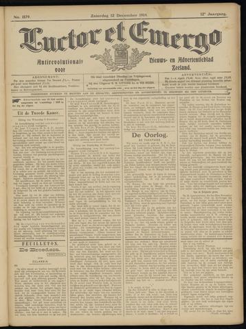 Luctor et Emergo. Antirevolutionair nieuws- en advertentieblad voor Zeeland / Zeeuwsch-Vlaanderen. Orgaan ter verspreiding van de christelijke beginselen in Zeeuwsch-Vlaanderen 1914-12-12