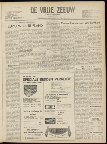 de Vrije Zeeuw 1954-10-09
