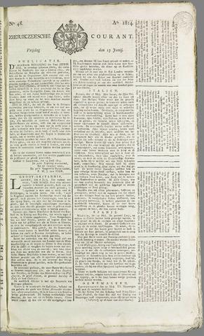 Zierikzeesche Courant 1814-06-17