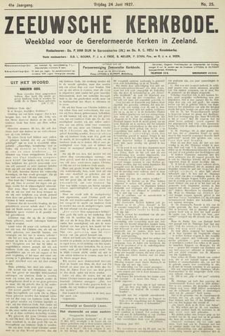 Zeeuwsche kerkbode, weekblad gewijd aan de belangen der gereformeerde kerken/ Zeeuwsch kerkblad 1927-06-24