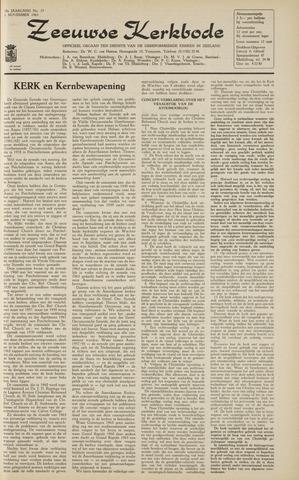 Zeeuwsche kerkbode, weekblad gewijd aan de belangen der gereformeerde kerken/ Zeeuwsch kerkblad 1963-11-01
