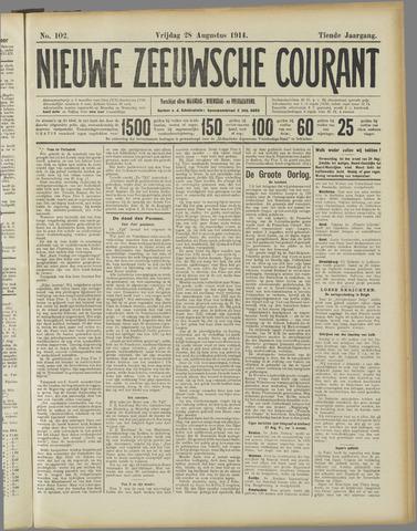 Nieuwe Zeeuwsche Courant 1914-08-28