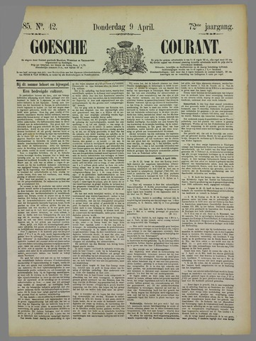 Goessche Courant 1885-04-09