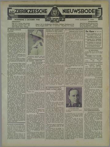 Zierikzeesche Nieuwsbode 1940-10-02