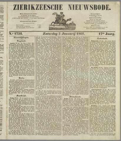 Zierikzeesche Nieuwsbode 1861-01-05