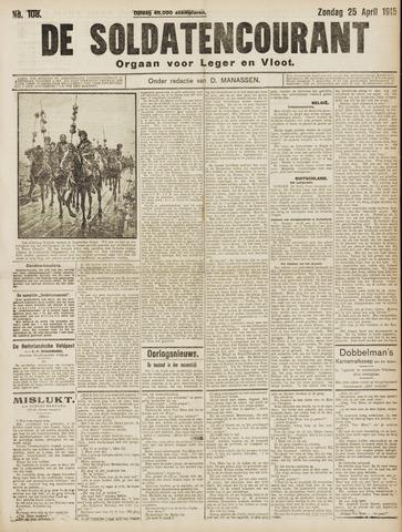 De Soldatencourant. Orgaan voor Leger en Vloot 1915-04-25