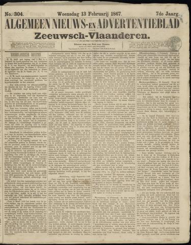 Ter Neuzensche Courant. Algemeen Nieuws- en Advertentieblad voor Zeeuwsch-Vlaanderen / Neuzensche Courant ... (idem) / (Algemeen) nieuws en advertentieblad voor Zeeuwsch-Vlaanderen 1867-02-13