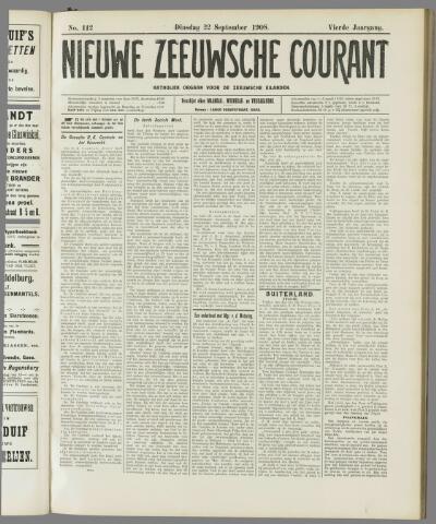 Nieuwe Zeeuwsche Courant 1908-09-22
