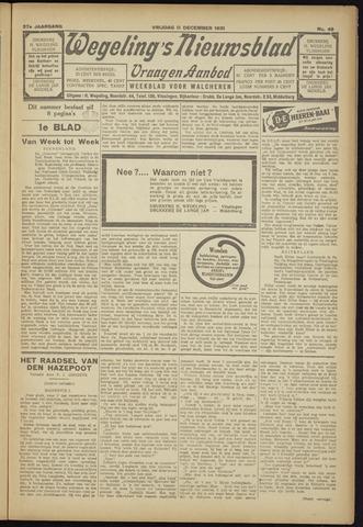 Zeeuwsch Nieuwsblad/Wegeling's Nieuwsblad 1931-12-11