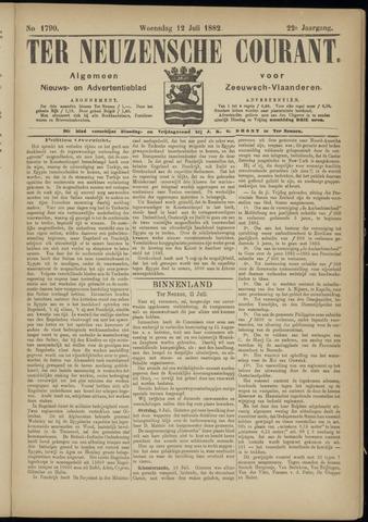 Ter Neuzensche Courant. Algemeen Nieuws- en Advertentieblad voor Zeeuwsch-Vlaanderen / Neuzensche Courant ... (idem) / (Algemeen) nieuws en advertentieblad voor Zeeuwsch-Vlaanderen 1882-07-12