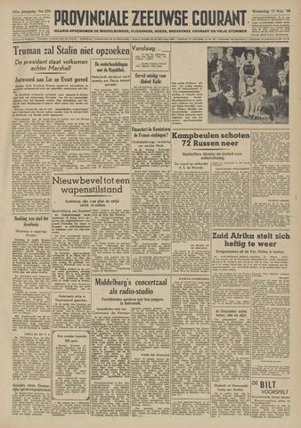 Provinciale Zeeuwse Courant 1948-11-17